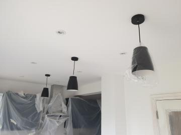 Ceiling lighting installation in Iver